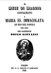 LIBRO IL MESE DI MAGGIO 1858