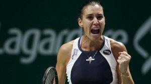 WTA Finals Singapore, Flavia Pennetta vs Agnieszka Radwanska