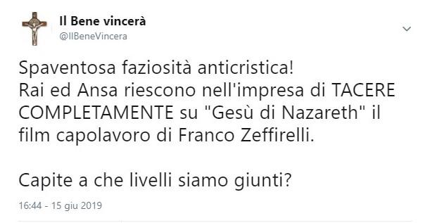 tweet zeffirelli
