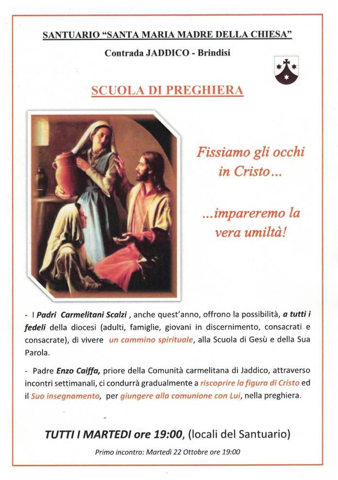 SCUOLA DI PREGHIERA 19-20