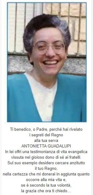 Immaginetta con preghiera - Antonietta